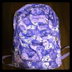 Jansport purple skulls bookbag
